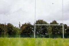 Rugby pitch with no players Royalty Free Stock Photos