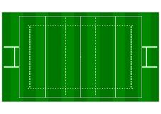 Rugby Pitch - Over Head View Stock Photography