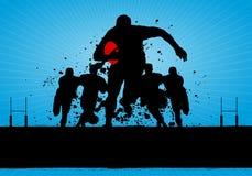 Rugby-Plakat Lizenzfreie Stockbilder
