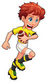 Rugby player. Vector cartoon and isolated sport character Stock Photography