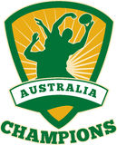 Rugby Player Australia Champions Stock Photo