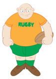 Rugby player cartoon Royalty Free Stock Images