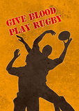 Rugby player catching ball lineout Stock Photography