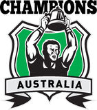 Rugby player champions cup Australia Royalty Free Stock Photo
