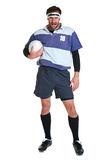 Rugby player cut out on white Stock Images