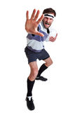 Rugby player cut out on white Stock Photography