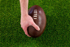 A rugby player doing a touchdown Royalty Free Stock Photos