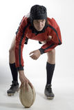Rugby Player with Football - Vertical Royalty Free Stock Images