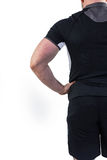 Rugby player with hand on hip Stock Photo