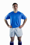 Rugby player with hands on hips Royalty Free Stock Photo
