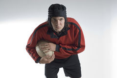 Rugby Player Holding Football - Horizontal Royalty Free Stock Photo