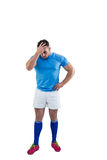 Rugby player after a loss Royalty Free Stock Images