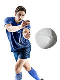 Rugby player man isolated Royalty Free Stock Photos