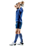 Rugby player man isolated Royalty Free Stock Photography
