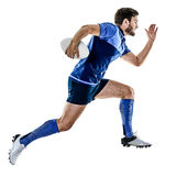 Rugby player man isolated Royalty Free Stock Image