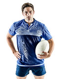 Rugby player man isolated Royalty Free Stock Photo
