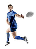 Rugby player man isolated Stock Photography