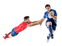 Rugby player men  Royalty Free Stock Images