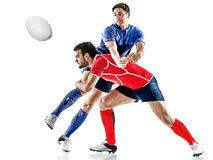 Rugby player men isolated royalty free stock photography