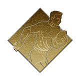 Rugby player metallic gold Stock Images