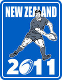 Rugby player new zealand 2011 Stock Image