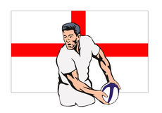 Rugby player passing ball Stock Images