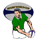 Rugby player passing ball Royalty Free Stock Photography
