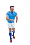 Rugby player ready to catch Stock Photography