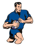 Rugby player running Royalty Free Stock Photo