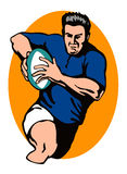 Rugby Player Running Royalty Free Stock Image