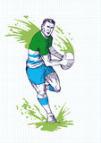 Rugby player running with ball Royalty Free Stock Photography