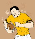 Rugby player running with ball Stock Photos