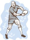 Rugby Player Running With Ball Stock Photo