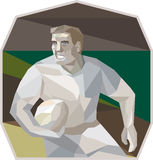Rugby Player Running Low Polygon Royalty Free Stock Photos