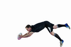 A rugby player scoring a try Royalty Free Stock Photography