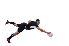 Rugby player scoring a try Royalty Free Stock Photos