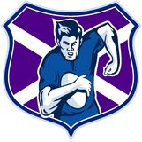 Rugby player scotland flag Stock Images