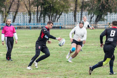 Rugby players in action Royalty Free Stock Photos