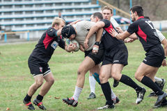 Rugby players in action Royalty Free Stock Photography
