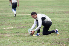 Rugby players in action Stock Photography