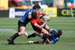 Rugby. Players fighting for ball during the match between Emerging Italy and Spain, World  Nation Cup stock photos