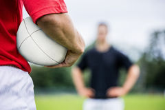 Rugby players playing a match Stock Image