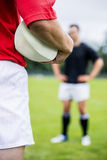 Rugby players playing a match Royalty Free Stock Photography