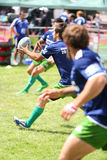 Rugby players from Portugal catch ball Royalty Free Stock Photography