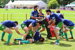 Rugby players from Portugal train Stock Photos