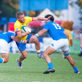 Rugby players during Romania vs Emerging Italy Royalty Free Stock Photography
