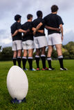 Rugby players standing together before match Royalty Free Stock Photography