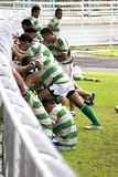 Rugby Players Warming Up Stock Photo