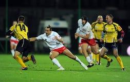 Rugby Poland - Moldova Friendly Royalty Free Stock Photo