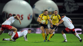 Rugby Pologne - Moldau amicaux Photographie stock